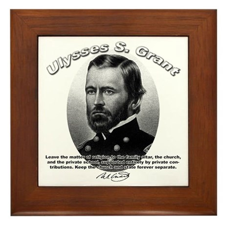 Ulysses S. Grant 01 Framed Tile