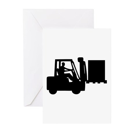 Forklift Greeting Cards (Pk of 20)