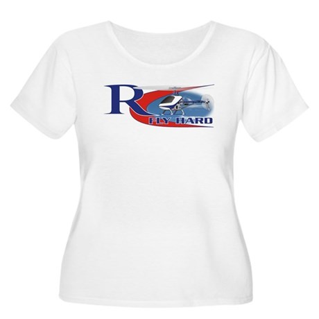 RC Fly Hard Women's Plus Size Scoop Neck T-Shirt