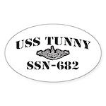 USS TUNNY Oval Sticker (50 pk)