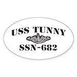 USS TUNNY Oval Sticker