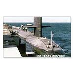 USS TUNNY Rectangle Sticker