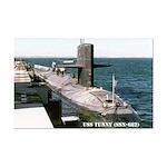 USS TUNNY Mini Poster Print