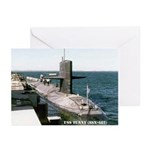 USS TUNNY Greeting Cards (Pk of 10)