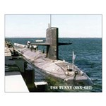 USS TUNNY Small Poster