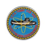 """USS TUNNY 3.5"""" Button"""