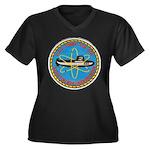 USS TUNNY Women's Plus Size V-Neck Dark T-Shirt