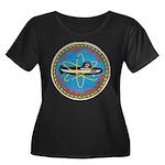 USS TUNNY Women's Plus Size Scoop Neck Dark T-Shir