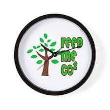Feed Me CO2 Tree Wall Clock