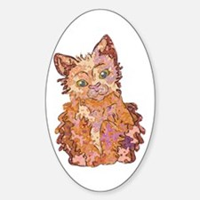 Whiskers the Kitten Oval Decal