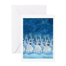 Dance of the Snowflakes Single Greeting Card