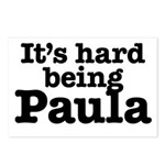 It's hard being Paula Postcards (Package of 8)