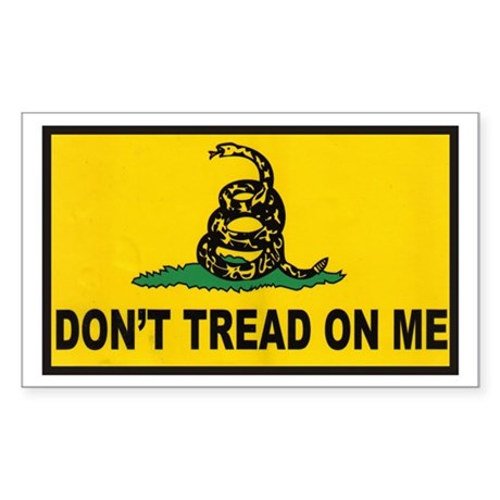Don't Tread on Me Rectangle Sticker