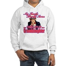 Military Family Granddaughter Hoodie