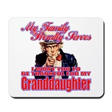Military Family Granddaughter Mousepad