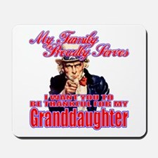Military Family Granddaughter Mousepad