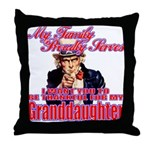 Military Family Granddaughter Throw Pillow