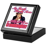 Military Family Granddaughter Keepsake Box