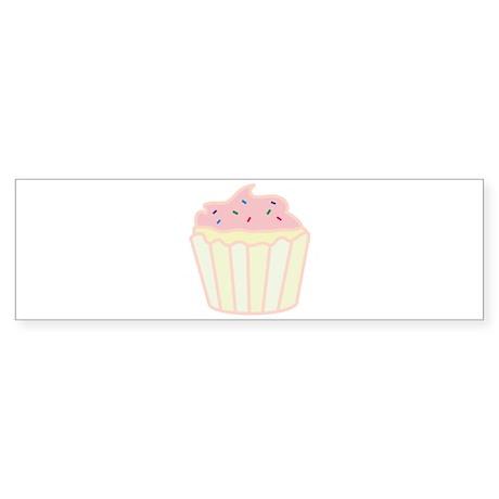 Pink Cupcake Bumper Sticker