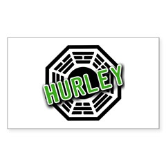 HURLEY Dharma Logo from LOST Rectangle Sticker 10
