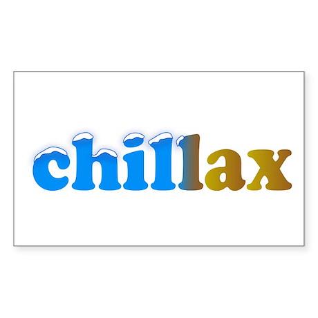 Chillax Sticker (Rectangle)