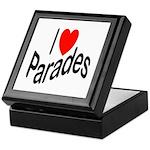 I Love Parades Keepsake Box