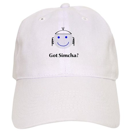 Got Simcha? Breslov Theme White Cap