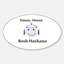 Breslov design Oval Decal
