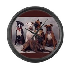 Boxers Large Wall Clock
