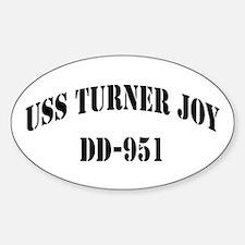 USS TURNER JOY Oval Decal