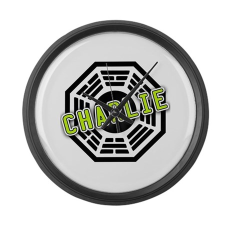 Charlie Dharma Logo from LOST Large Wall Clock