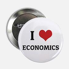 I Love Economics Button
