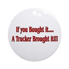 Truck 'n' Pride Ornament (Round)