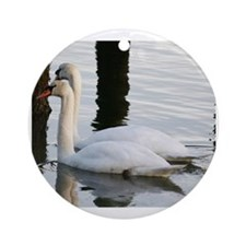 Love Swan Feng Shui Ornament (Round)