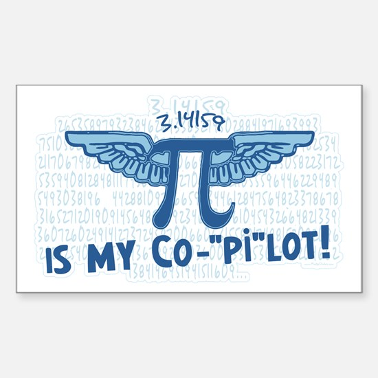 Pi is my Copilot Rectangle Bumper Stickers