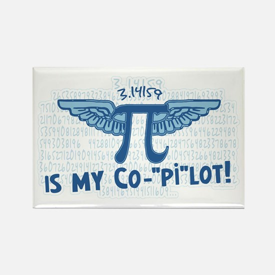Pi is my Copilot Rectangle Magnet