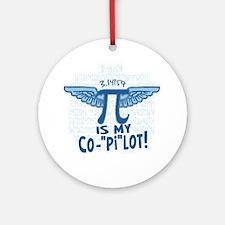 Pi is my Copilot Ornament (Round)
