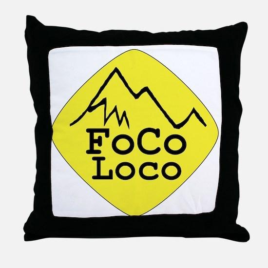 FoCoDe-FoCoLoco Throw Pillow