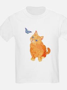 Quizzical Kitten Kids T-Shirt