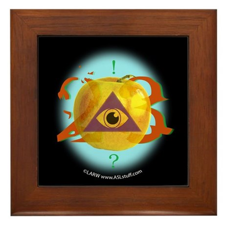 Illuminati Golden Apple Framed Tile