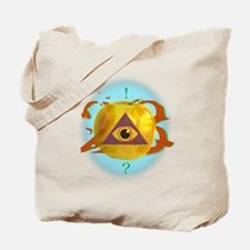Illuminati Golden Apple Tote Bag