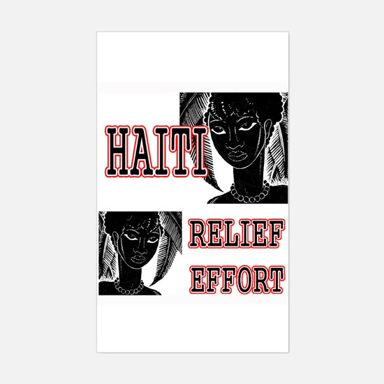 Help for Haiti Rectangle Decal