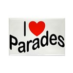I Love Parades Rectangle Magnet (10 pack)