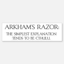 Arkham's Razor Bumper Bumper Bumper Sticker