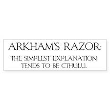 Arkham's Razor Bumper Bumper Sticker