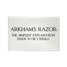 Arkham's Razor Rectangle Magnet