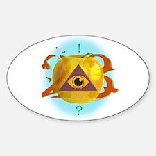 Illuminati Golden Apple Oval Decal