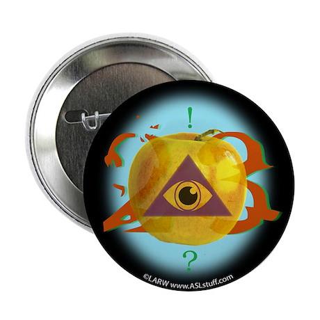 """Illuminati Golden Apple 2.25"""" Button"""