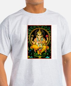Lord Ganesha Ash Grey T-Shirt