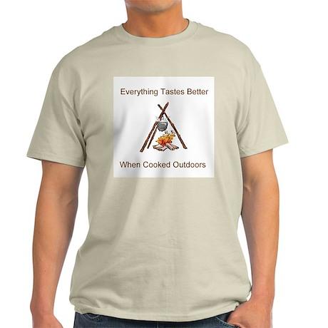 Campfire Cook Ash Grey T-Shirt